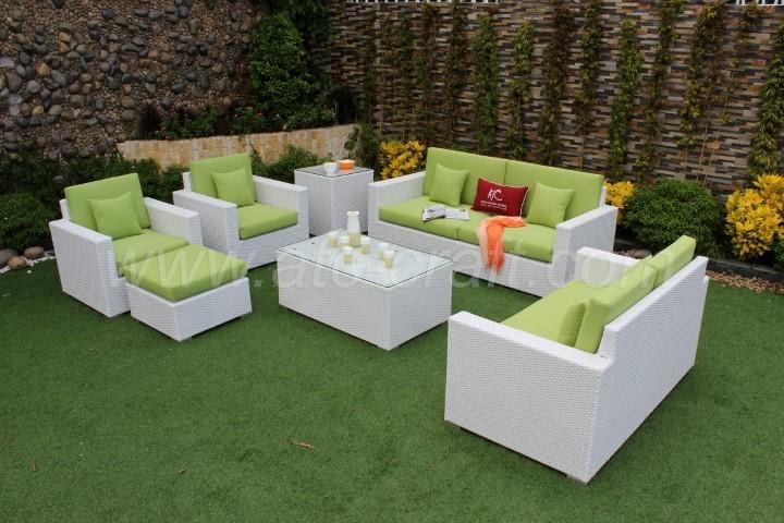Cool Green Cushion White Wicker Sofa Set Rasf 008 Atc Furniture Uwap Interior Chair Design Uwaporg