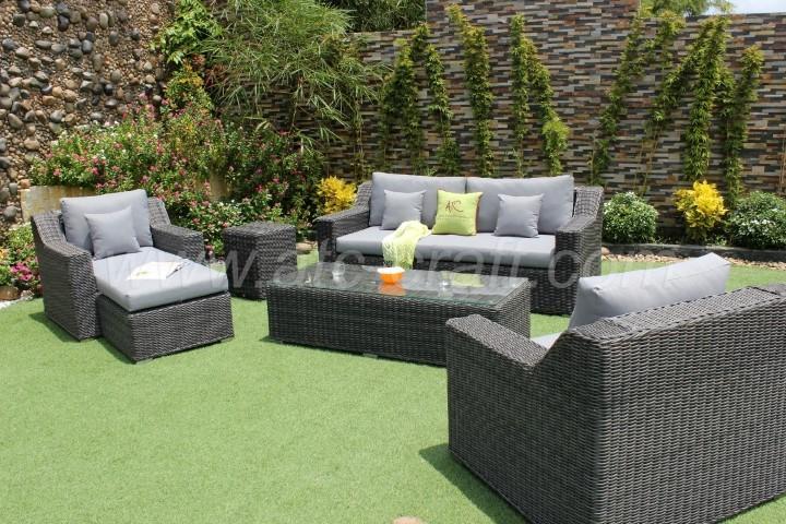 Wondrous Deep Seating Synthetic Hyacinth Sofa Set Rasf 035 Atc Ncnpc Chair Design For Home Ncnpcorg