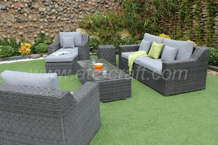 Enjoyable Deep Seating Synthetic Hyacinth Sofa Set Rasf 035 Atc Ncnpc Chair Design For Home Ncnpcorg