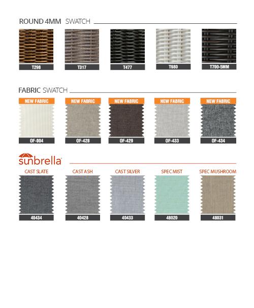 Modern Grey Outdoor Wicker Sofa Set RASF-045 Style 1 Materials