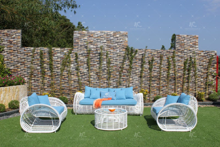 Plastic wicker outdoor furniture RASF-055