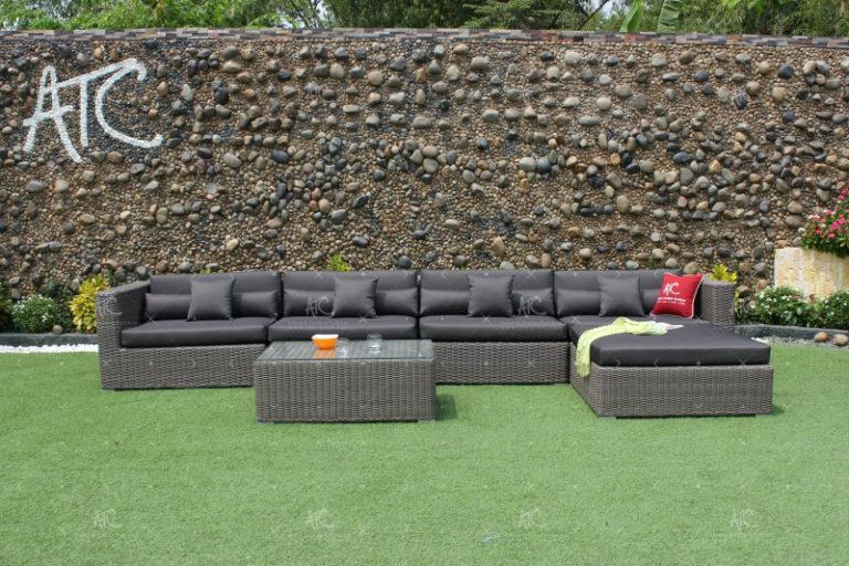 wicker sofa garden RASF-004