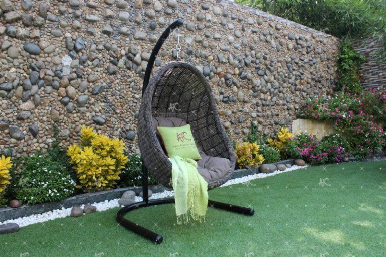 Poly rattan outdoor hammock hanging chair RAHM-002