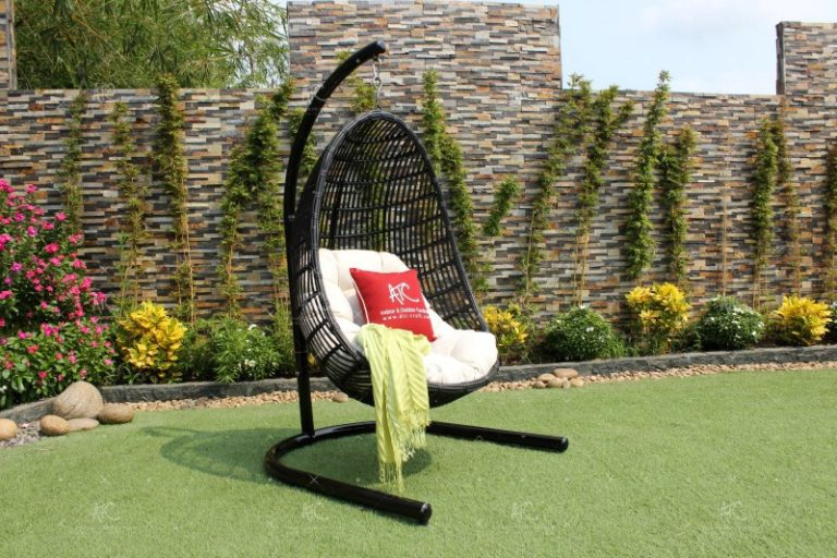 Poly rattan outdoor hammock hanging chair RAHM-002A