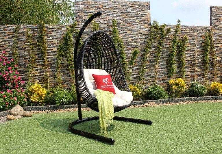 Poly rattan outdoor hammock RAHM-002A