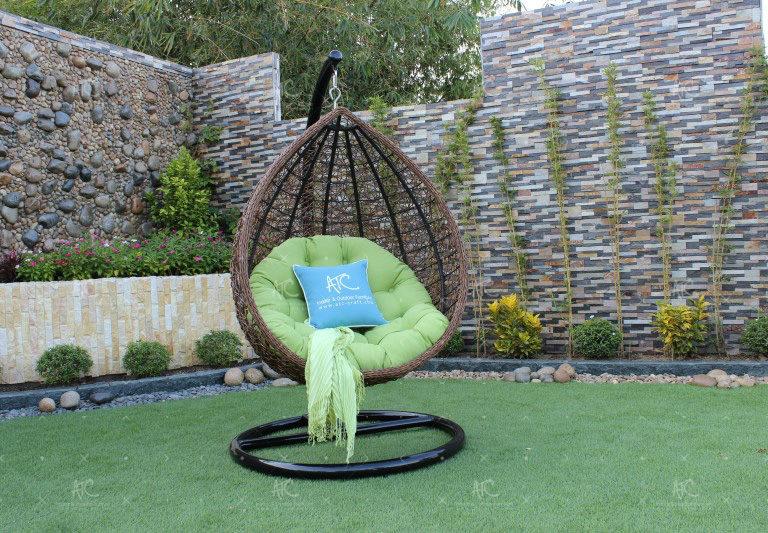Poly rattan outdoor hammock hanging chair RAHM-006