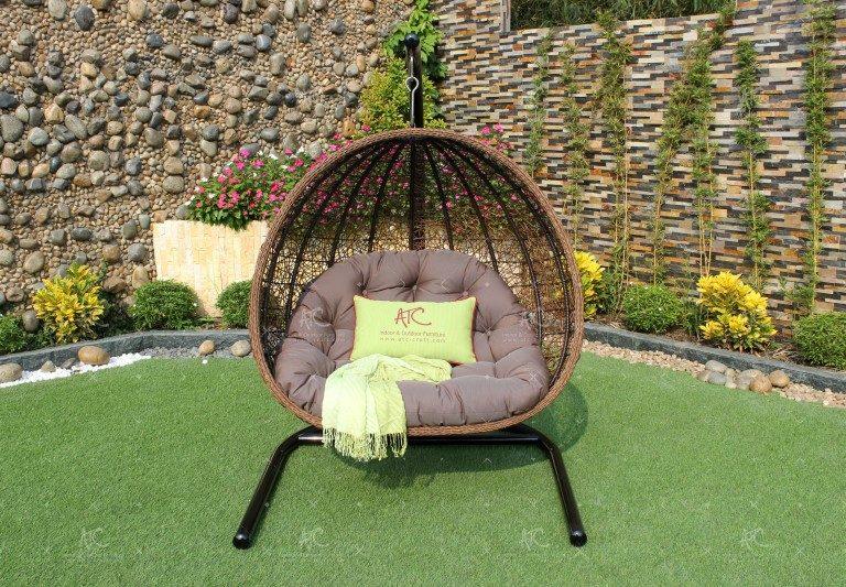 Poly rattan outdoor hammock hanging chair RAHM-013