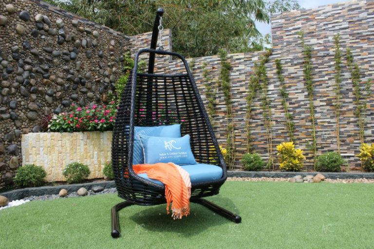 Poly rattan outdoor hammock hanging chair RAHM-016
