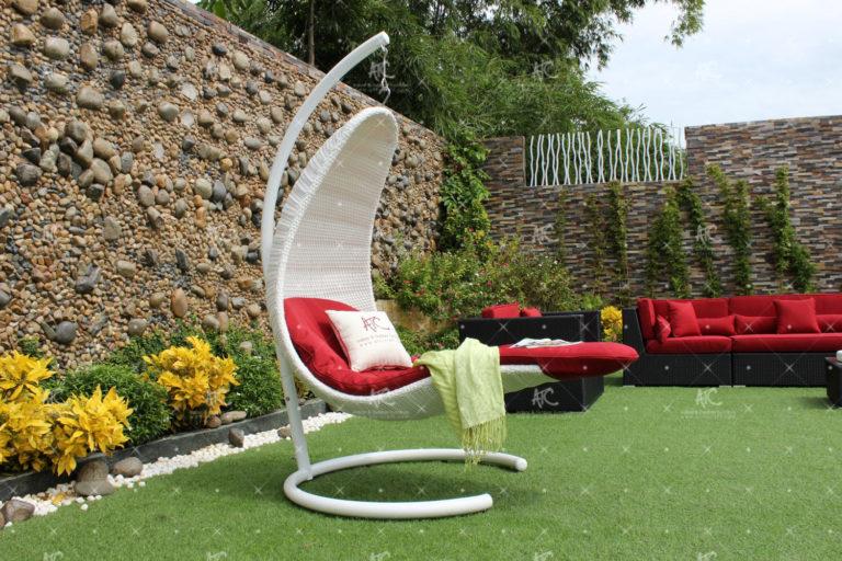 Poly rattan outdoor hammock hanging chair RAHM-018