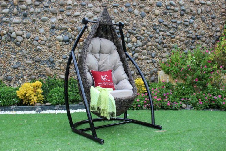 Poly rattan outdoor hammock hanging chair RAHM-019