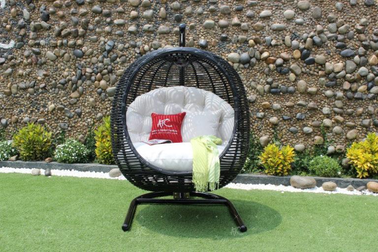 Poly rattan outdoor hammock hanging chair RAHM-020