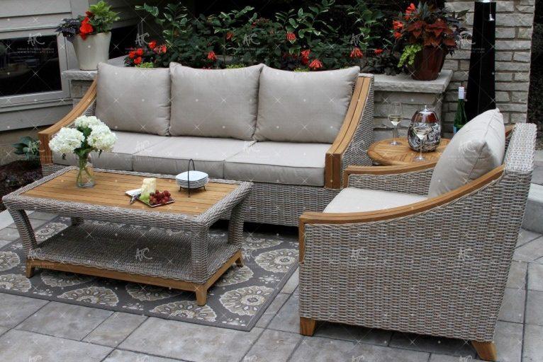 Poly rattan sofa garden RASF-149