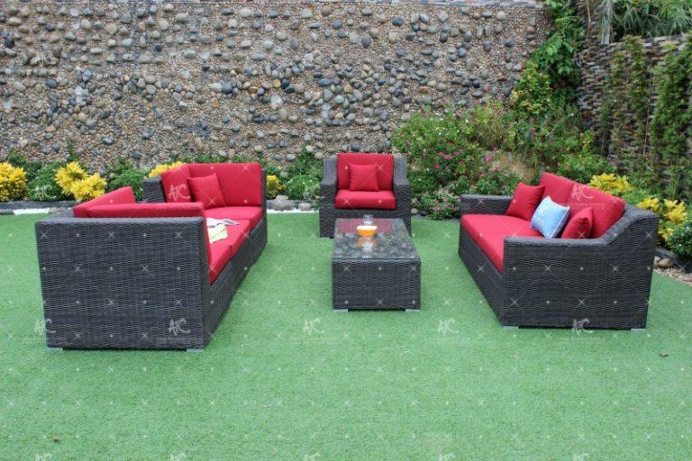 Poly rattan sofa set RASF-034