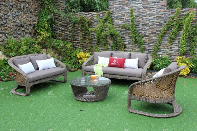 Poly rattan sofa set RASF-090