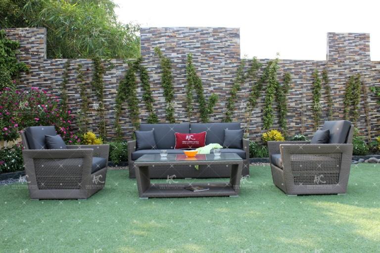 Poly rattan garden sofa sets RASF-038