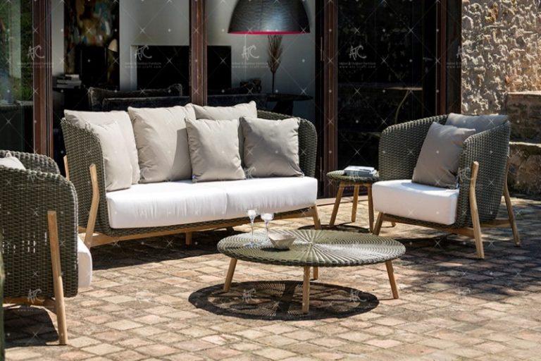 Poly rattan outdoor sofa set RASF 148
