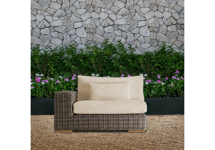 Bora wicker patio furniture single sofa