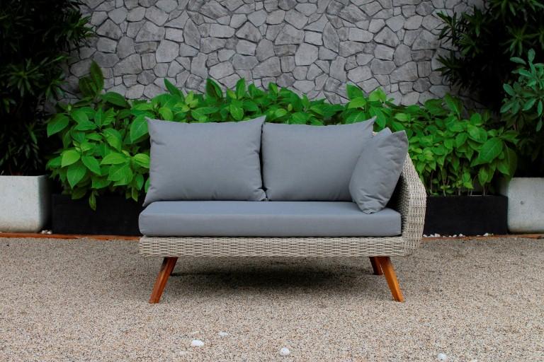 canary poly rattan garden furniture single sofa
