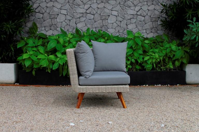 canary poly rattan furniture single sofa