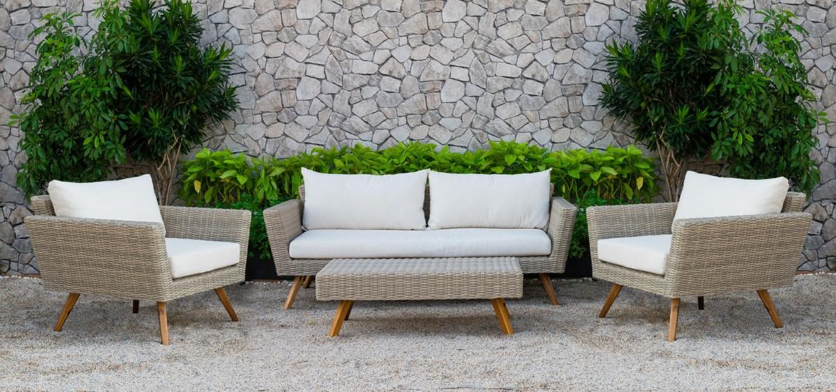 canary wicker patio furniture rattan sofa set