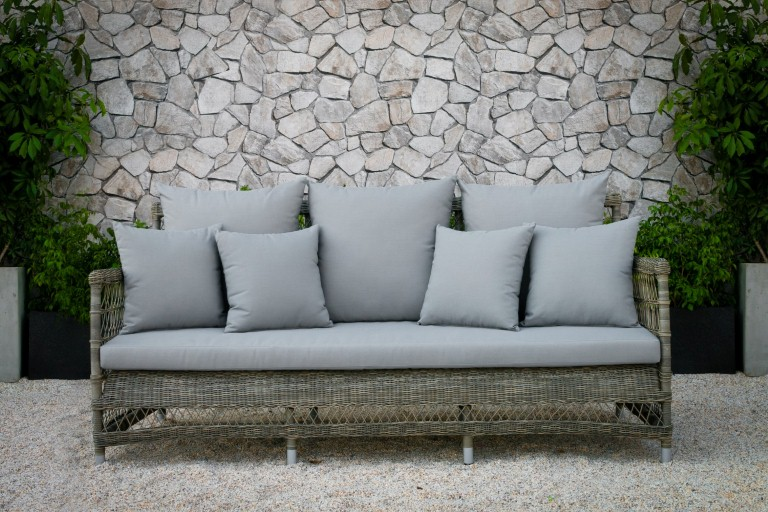 devon patio poly wicker furniture rattan single sofa