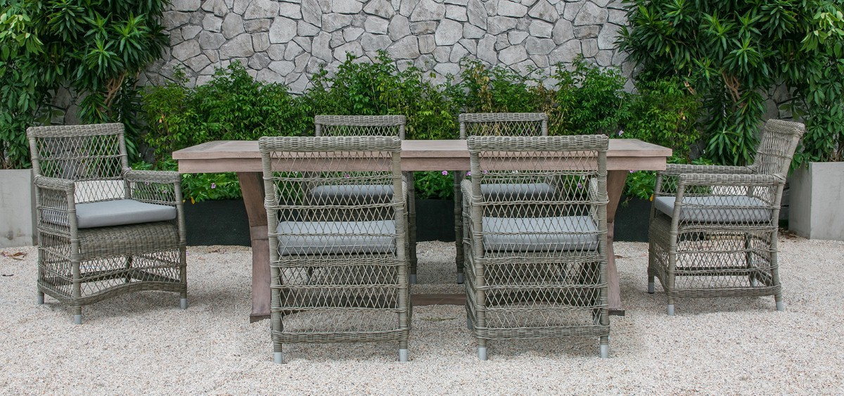 devon patio furniture wicker dining set
