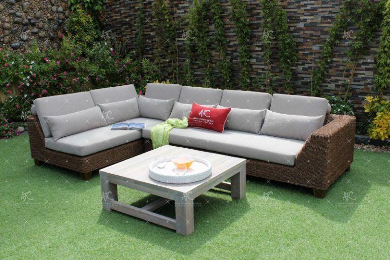 Poly rattan sofa garden RASF-151