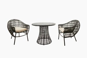 Wicker Outdoor Dining Set Deep Seating