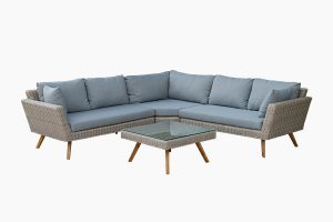 Deep Seating Wicker Sofa Set