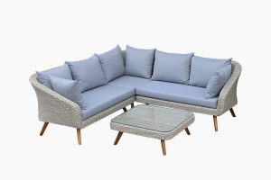 Deep Seating Wicker Round Sofa Set