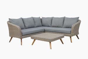 Deep Seating Outdoor Wicker Corner Sofa Set