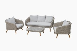 Deep-Seating Rattan Three One One Sofa Set