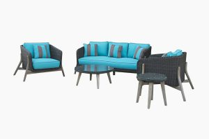 Black rattan sofa set perfect choice for your balconies