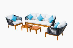 Patio outdoor furniture set color mixed style