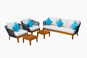 Garden furniture set color mixed style