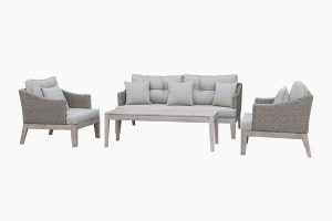 Patio garden grey rattan sofa set