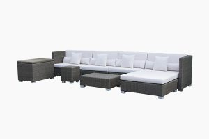 Indoor wicker furniture sofa set