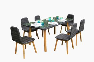 Garden PE wicker dining set