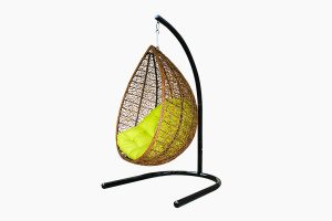 Poly rattan egg hammock hanging chair