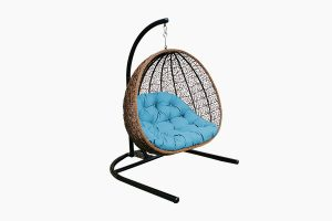 Poly rattan outdoor hanging chair