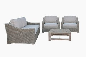 Cover poly rattan sofa set