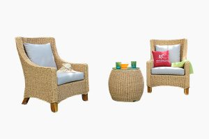 Poly water hyacinth wicker furniture set