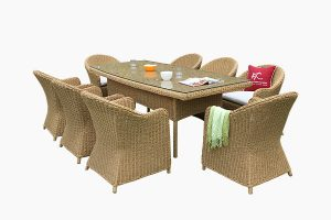 Synthetic wicker water hyacinth dining set