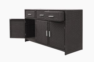 Wicker metal cabinet