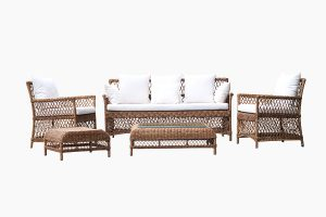 Wicker metal furniture sofa set