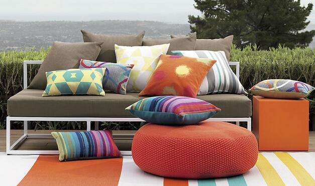 Outdoor living area needs pillows