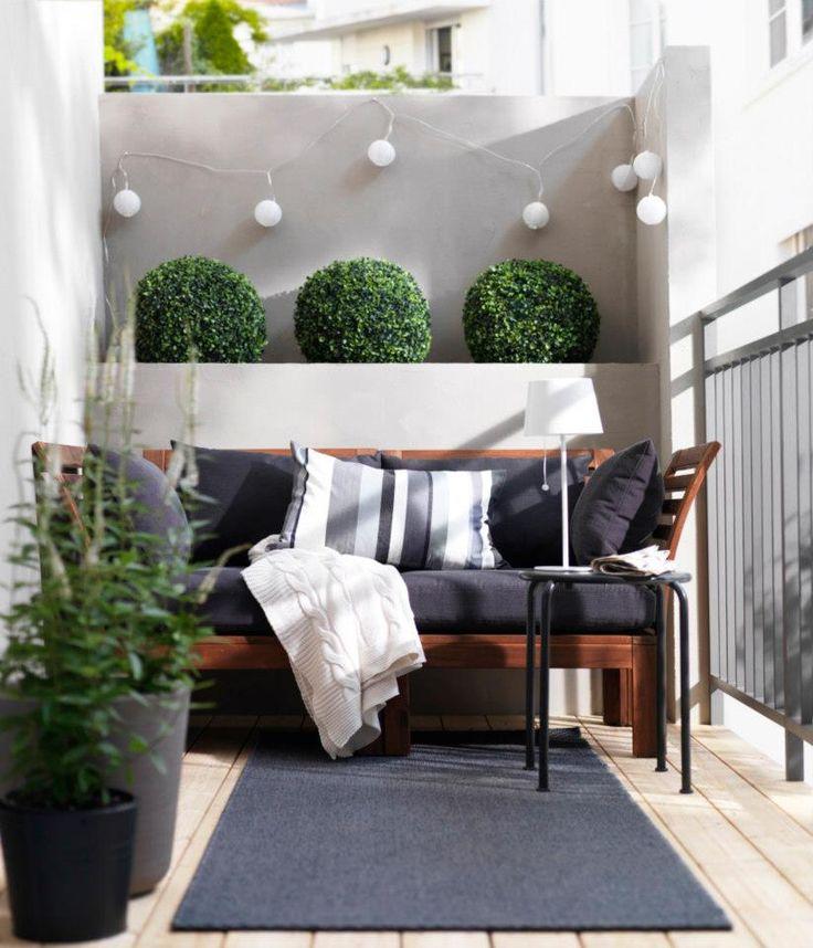 Lovely small balcony decoration