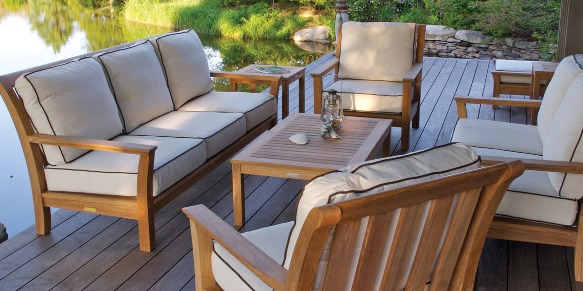 Bon Patio Outdoor Furniture Steak Wood With Water Proof Fabric