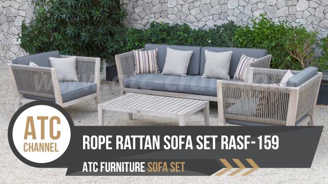 Outdoor Rope Fibre Rattan Sofa Set RASF-159 2018