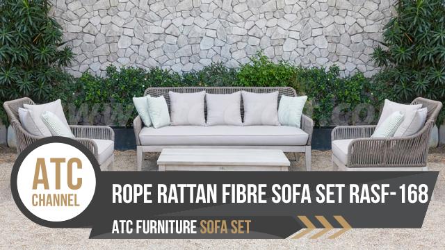 Outdoor Rope rattan fibre sofa set RASF-168 2018